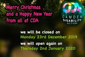 Merry Christmas and a Happy New Year from all at CDA. We will be closed on Monday 23rd December 2019, we will open again on Thursday 2nd January 2020